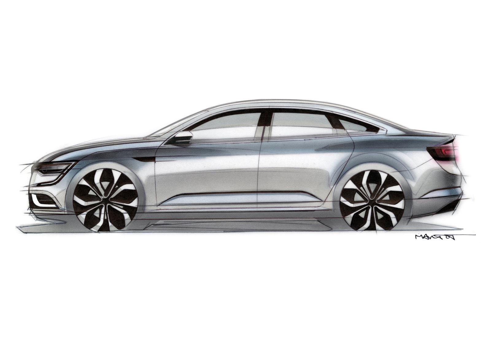 renault talisman design sketch by alexis martot car body design. Black Bedroom Furniture Sets. Home Design Ideas