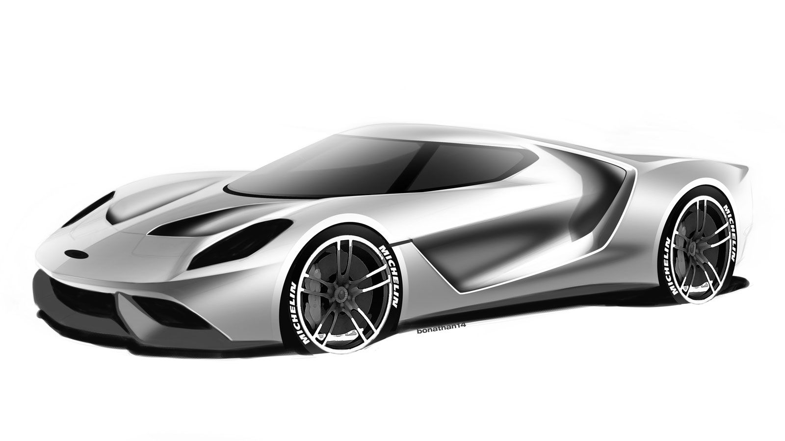 Ford gt design theme c design sketch render by colin for Coupe architecture