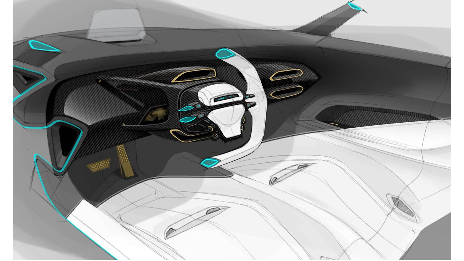 ford gt interior design sketch render car body design. Black Bedroom Furniture Sets. Home Design Ideas