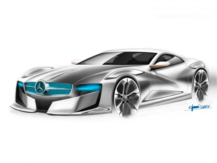 Mercedes-Benz Concept Photoshop rendering