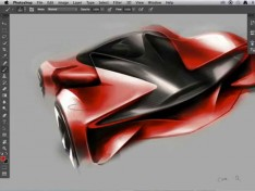 Sportscar-Photoshop-rendering-video