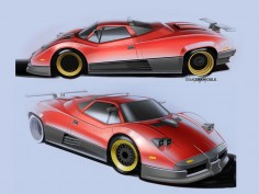 What if the Pagani Zonda was a supercar from the 1980s?