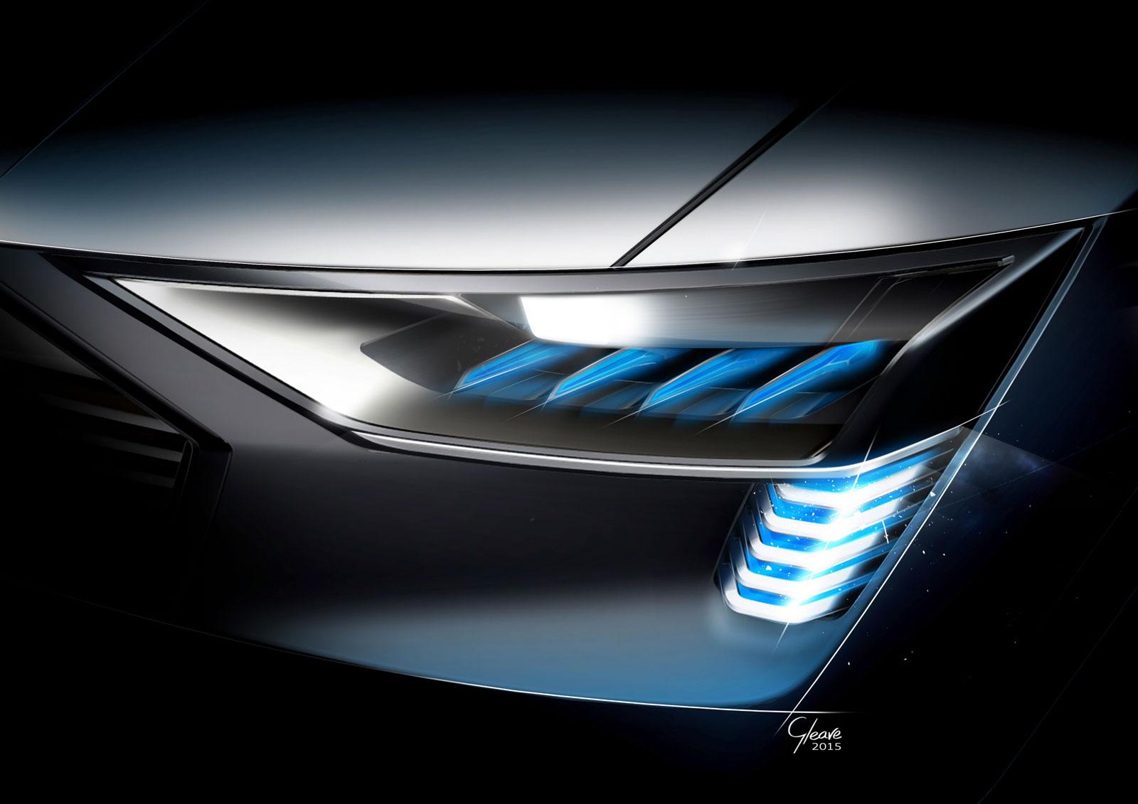 Audi E Tron Quattro Concept Headlight Design Sketch