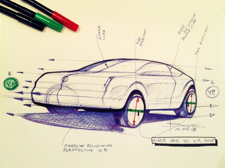 Car sketching tips: drawing wheels in perspective