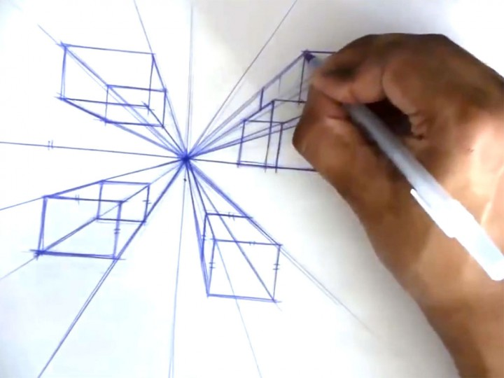 Drawing in One Point Perspective – Boxes