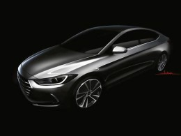 Hyundai Elantra Preview Design Sketch