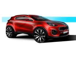 Next-gen Kia Sportage - Design Sketch
