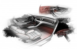Next-gen Kia Sportage - Interior Design Sketch