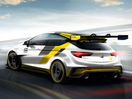 Opel New Astra for the Racetrack - Design Sketch Render