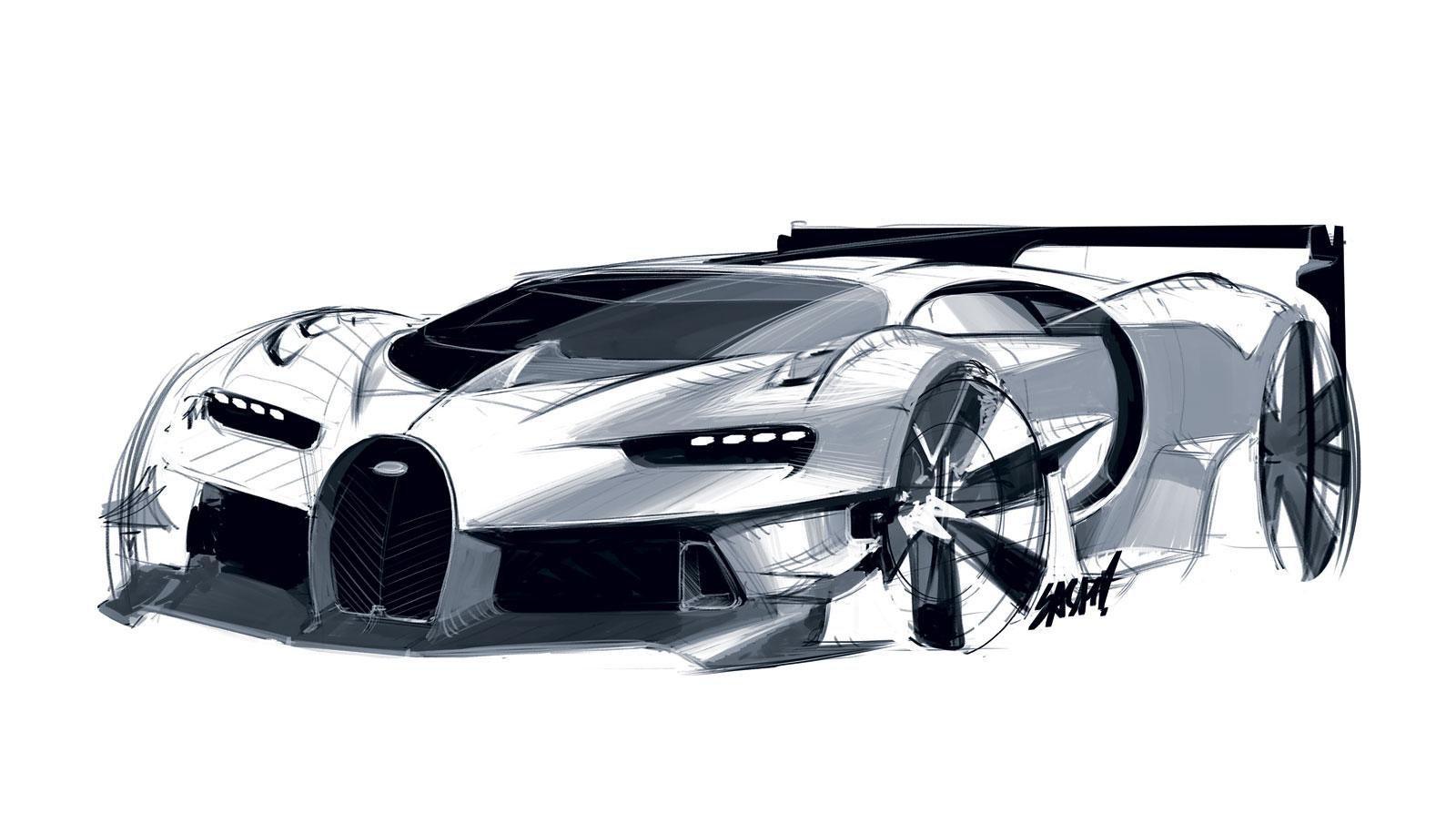 Bugatti Vision Gran Turismo Concept Design Sketch Car Body Design