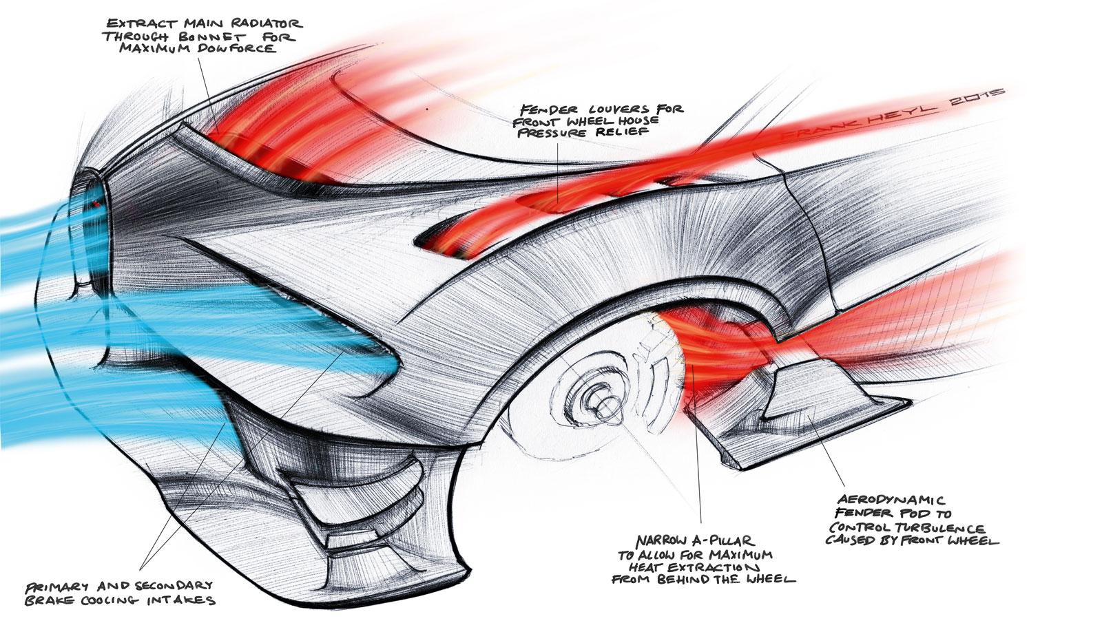 bugatti vision gran turismo concept design sketch airflow around wheels