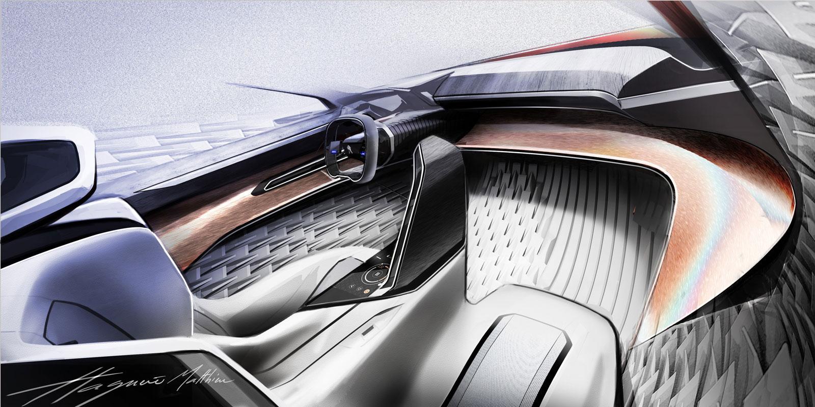 Peugeot Fractal Concept Interior Design Sketch Render ...