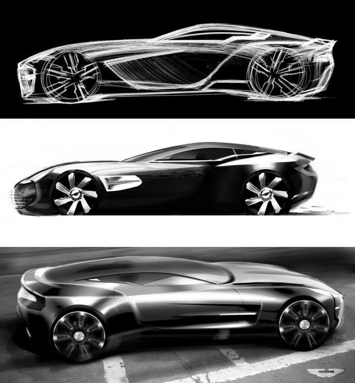 Aston Martin One 77 Official Design Sketches