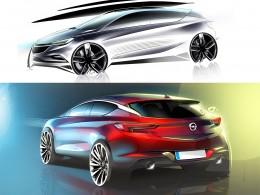 2016 Opel Astra - Design Sketches