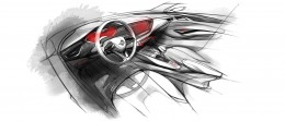 2016 Opel Astra - Interior Design Sketch