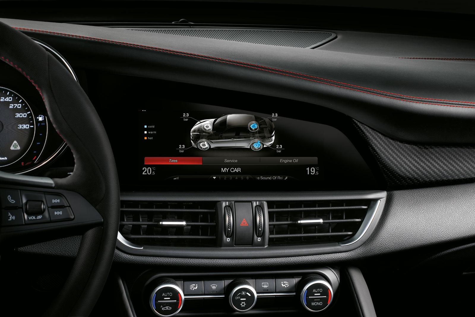 Alfa Romeo Giulia Quadrifoglio Interior Detail Preview Car Body
