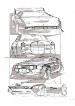 Audi Design Sketches by Bal�zs Filczer