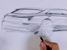 Audi e-tron quattro concept: design sketching video