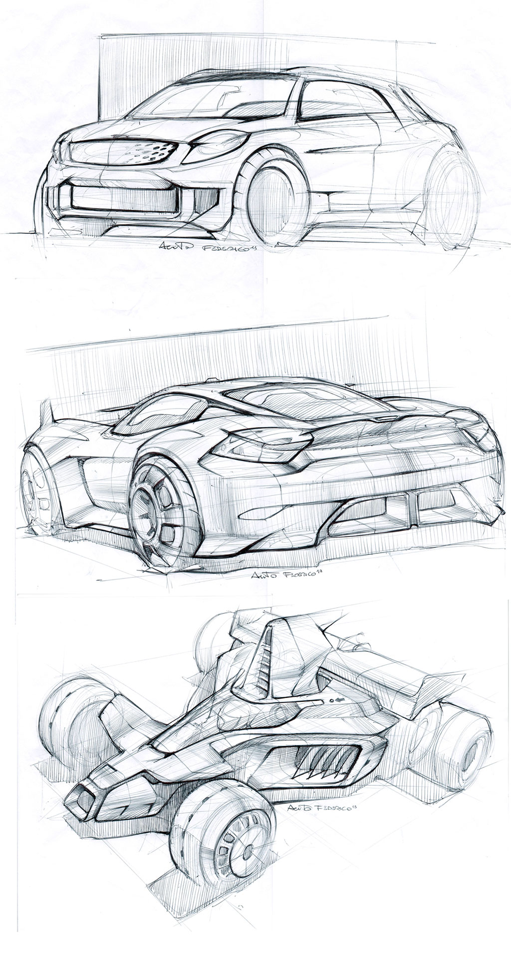 Car Design Sketches By Federico Acuto Car Body Design