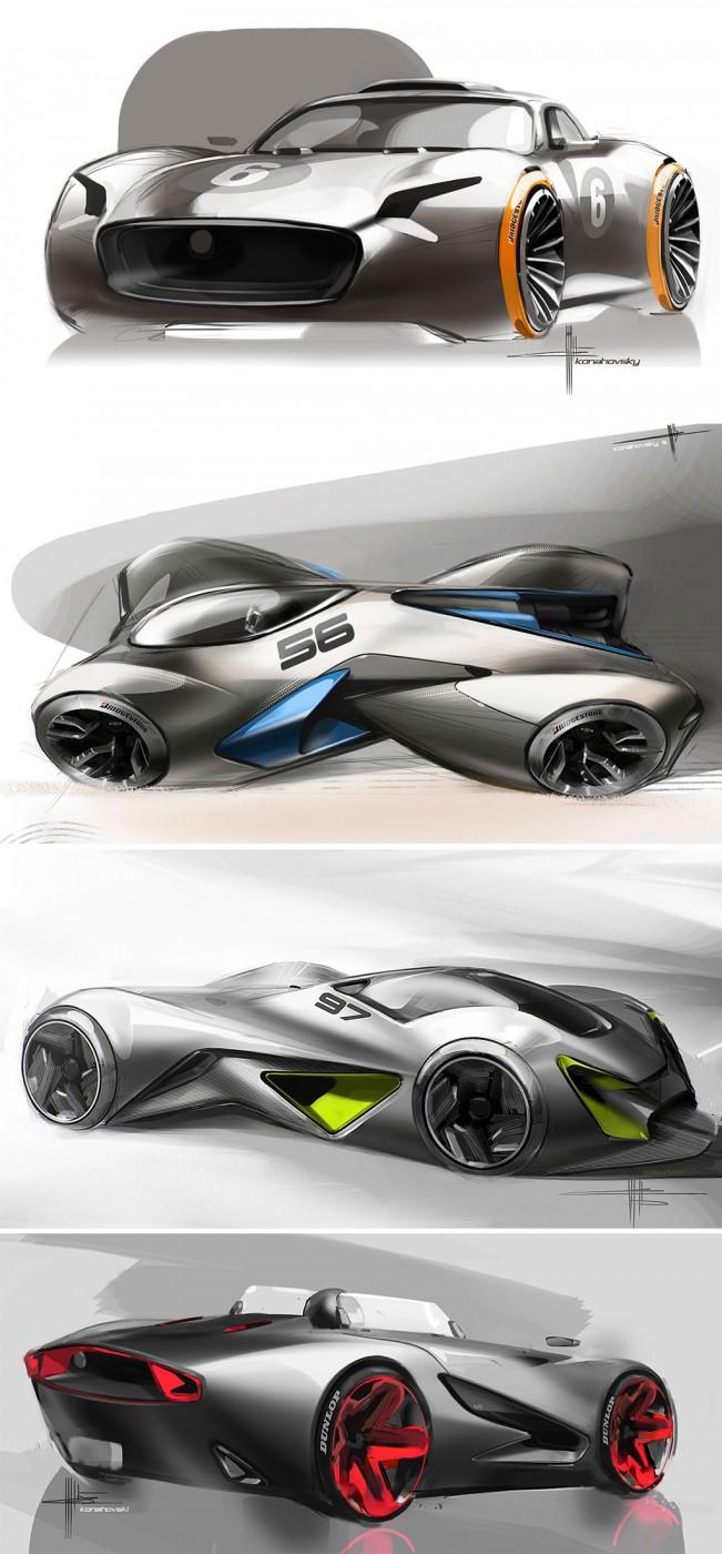Concept Car Design Sketches By Svyatoslav Konahovski Car