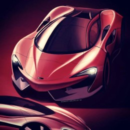 McLaren 2012 Theme Design Sketch by Robert Melville