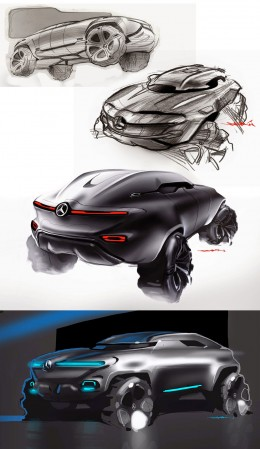 Mercedes-Benz Vindicator Concept Design Sketches by Sebesty�n Marcell