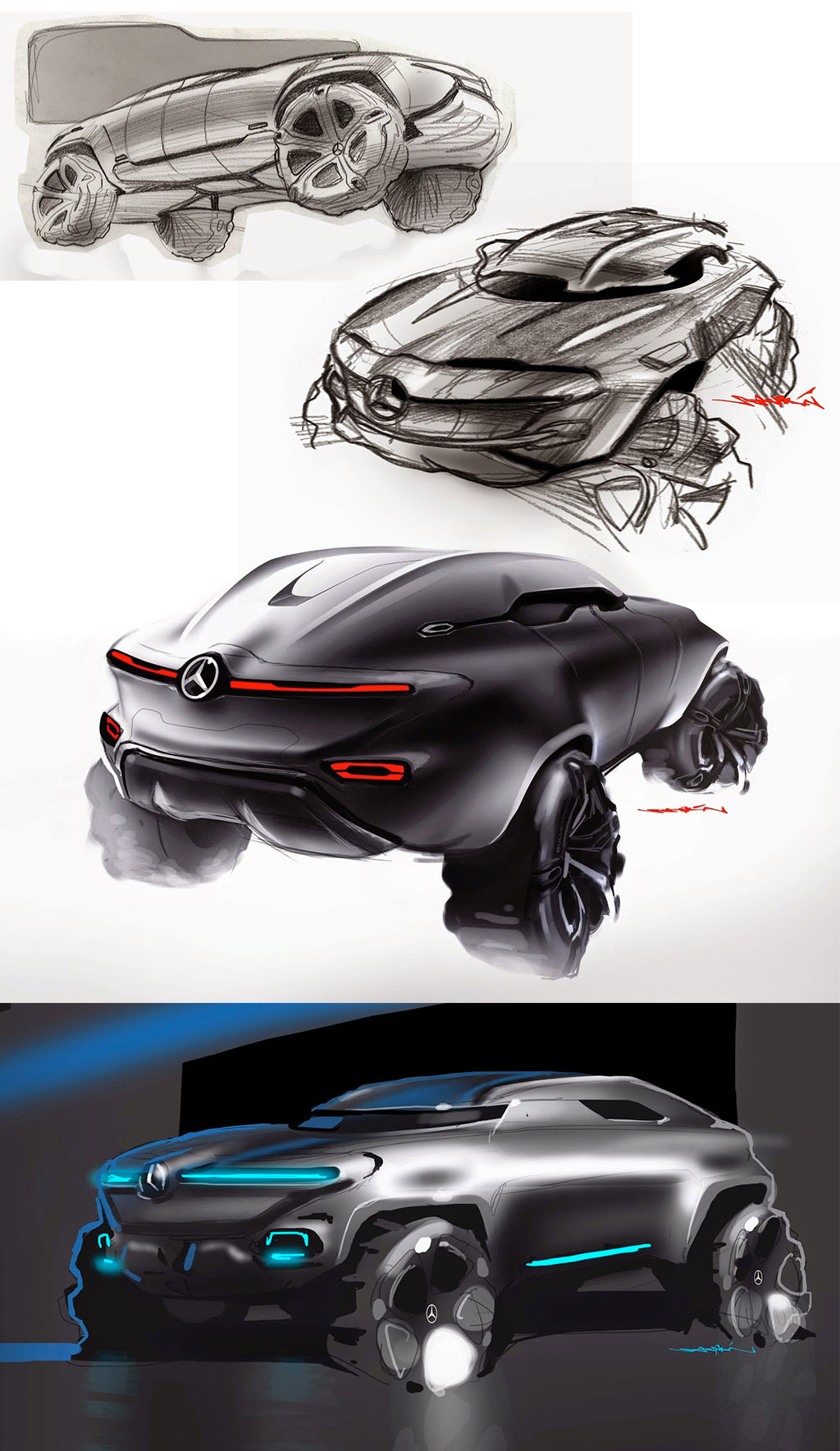 Mercedes Benz Vindicator Concept Design Sketches By Sebestyen Marcell on Volvo S60 Sketch
