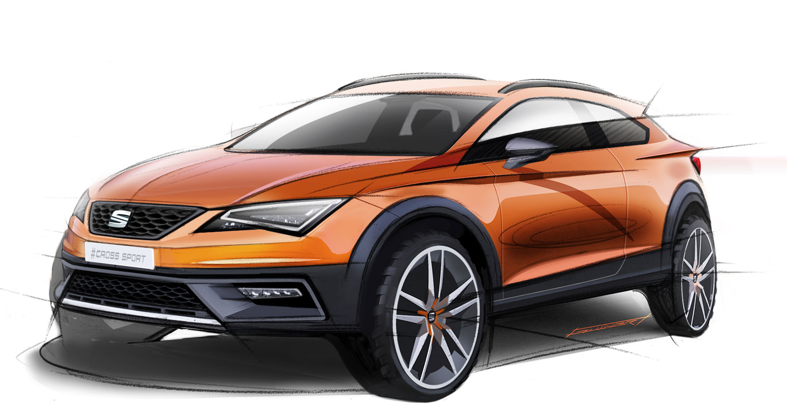 seat leon cross sport concept preview design sketches car body design. Black Bedroom Furniture Sets. Home Design Ideas