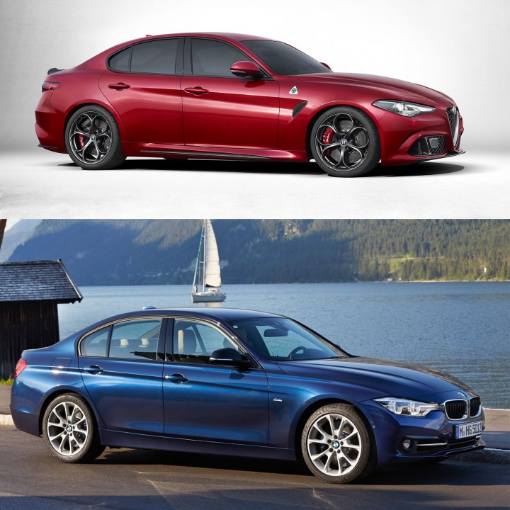 Alfa Romeo Giulia and BMW 3 Series