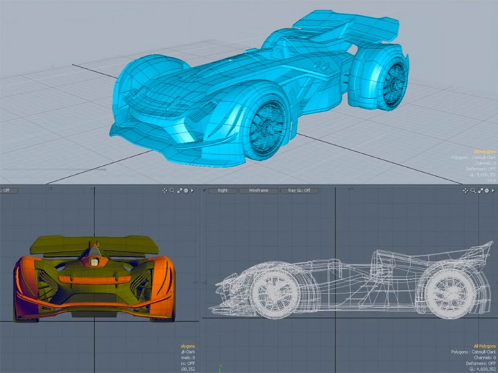 Automotive Concept Modeling in MODO
