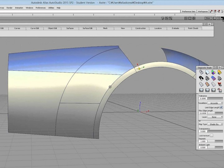 How to model a car rear fender in Autodesk Alias