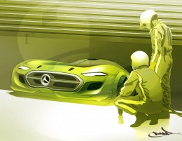 Mercedes-Benz Concept Design Sketch by Roberto Acedera Jr