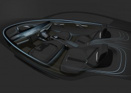 Roewe Vision-R Cocept - Interior Design Sketch Render