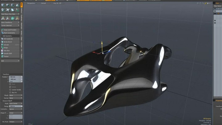 Speed Form 3D Polygon Model - MODO 901 screenshot