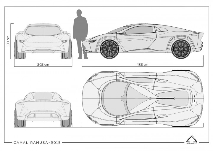 Camal Ramusa Concept pays tribute to Bertone - Car Body Design