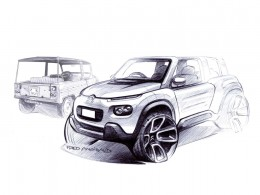Citroen E-Mehari - Design Sketch by Fred Angibaud