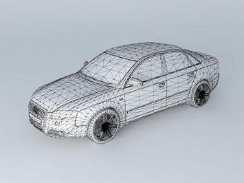 Audi A4/S4 free 3D model - Car Body Design