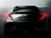 Honda teases 2017 Civic Hatchback Prototype