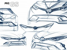 MG GS SUV previewed in design sketches