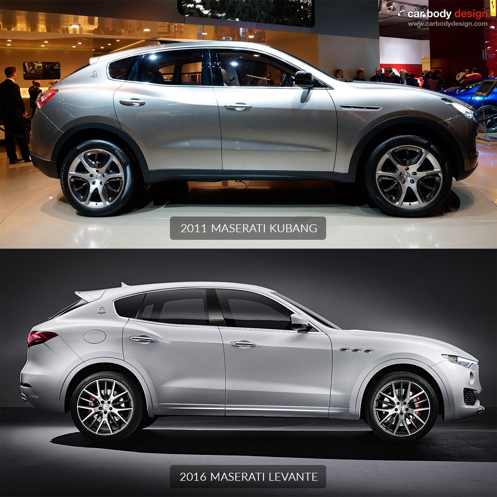 http://www.carbodydesign.com/media/2016/02/Maserati-Levante-vs-Maserati-Kubang-Design-Comparison-01.jpg