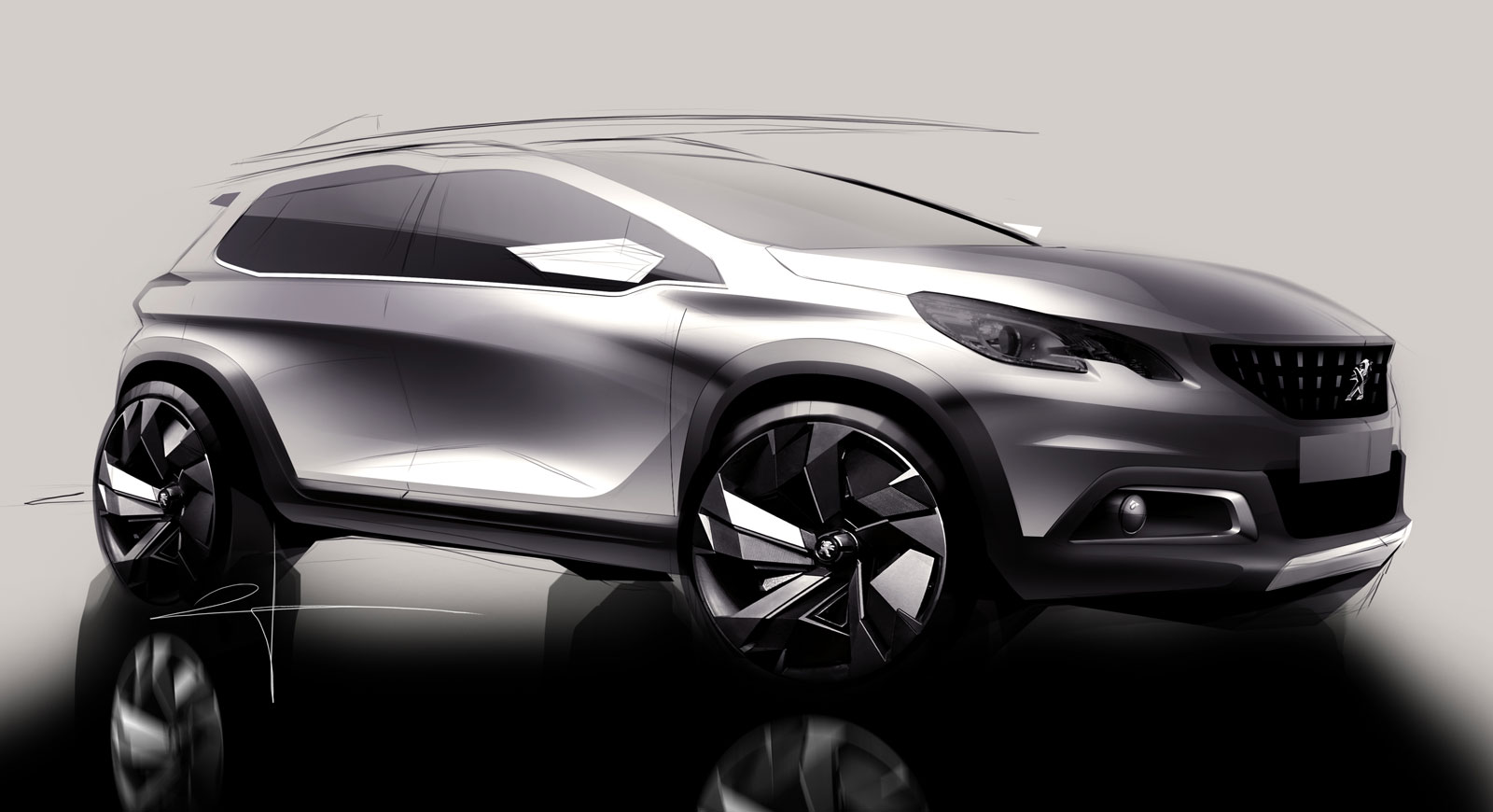 peugeot unveils restyled 2008 car body design. Black Bedroom Furniture Sets. Home Design Ideas