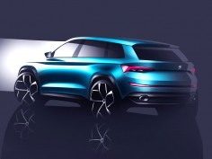 Škoda previews VisionS SUV concept with design sketches