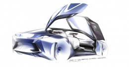 BMW Vision Next 100 Concept Design Sketch