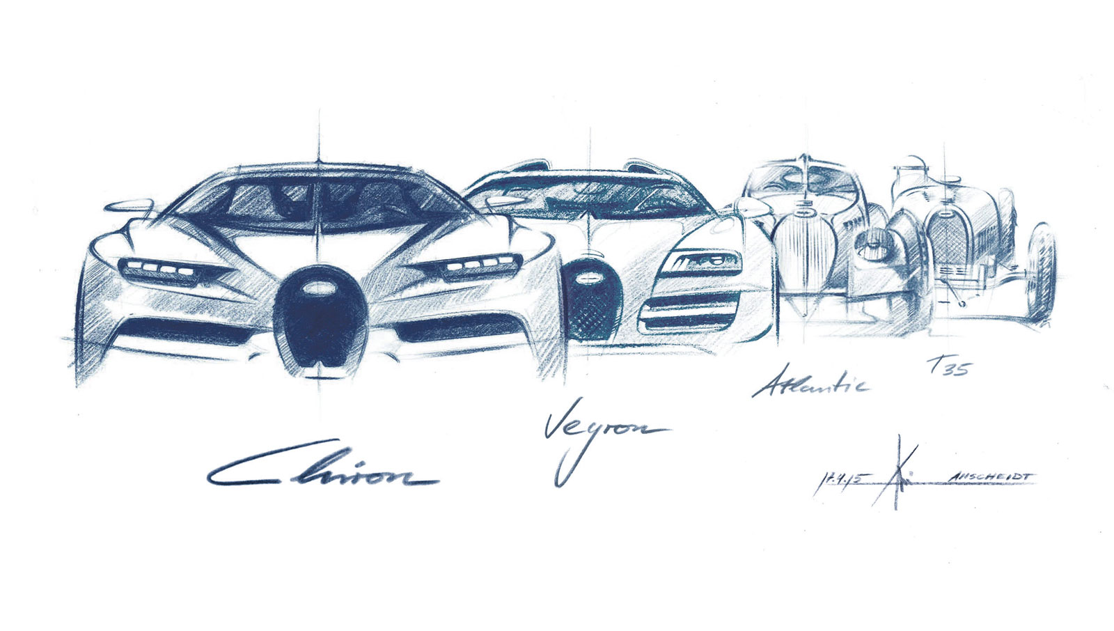 Bugatti Veyron Chiron Evolution Design Sketch Car Body