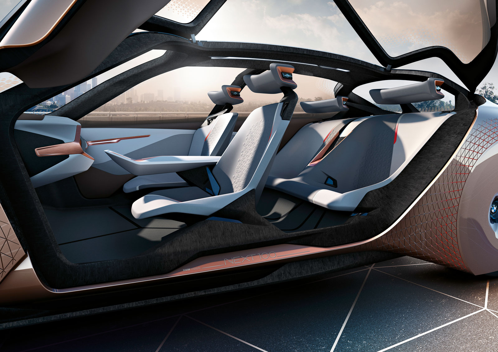 bmw vision next 100 concept interior car body design. Black Bedroom Furniture Sets. Home Design Ideas