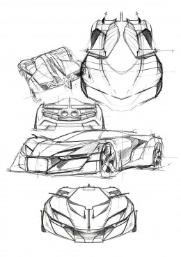 Bell and Ross AeroGT Concept - Design Sketch