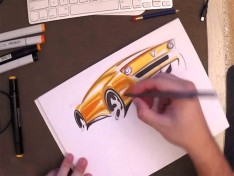 Car-Design-Sketching-with-markers-by-Marouane-Bembli