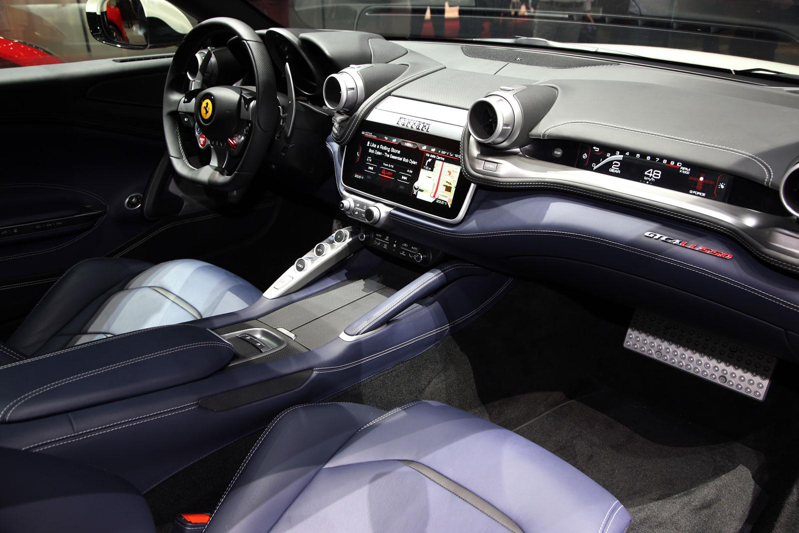 Ferrari Gtc4 Lusso At Geneva 2016 Interior Car Body Design