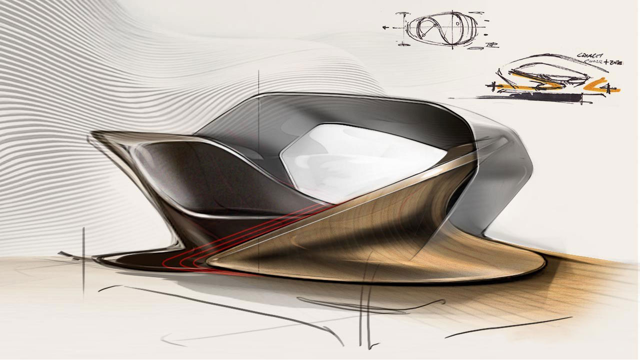 Concept car interior sketch the image for Conceptual designs