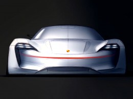 Porsche Mission E Concept Design Sketch